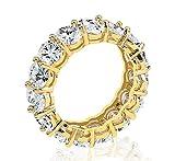 Anillo de Hip Hop, con forma de corazón, con circonita, para parejas, estilo hip hop, para hombres y mujeres, 123, Ovalado dorado, 8