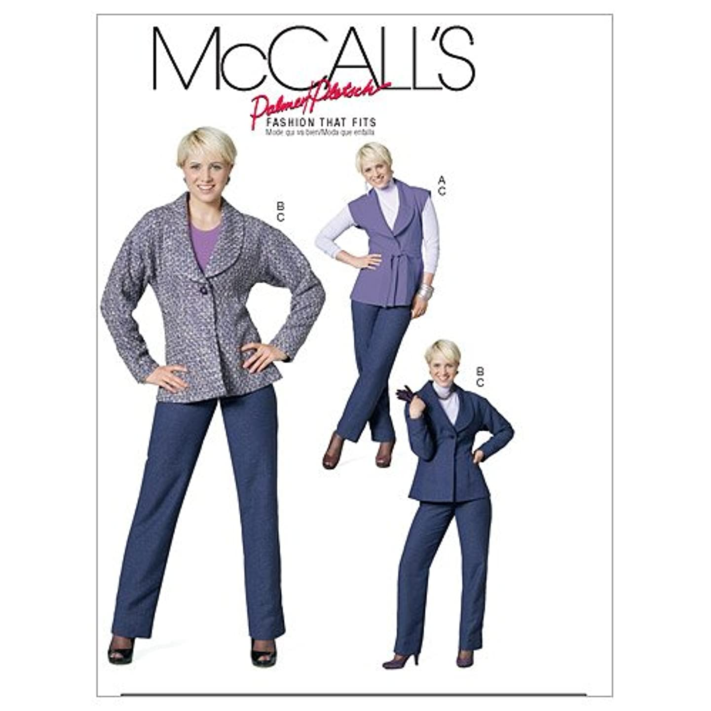 McCall's Patterns M6211 Misses' Lined Vest and Jacket; Belt and Pants, Size BB (8-10-12-14)