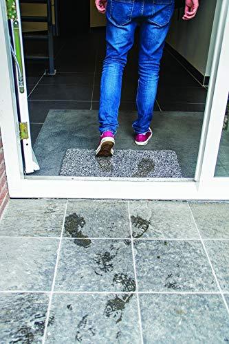 LIFA LIVING Felpudo Mágico de Secado inmediato, Felpudo Absorbente Anti Suciedad, Alfombra para Entrada Antideslizante, Gris, 45 x 70 cm
