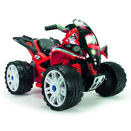 INJUSA - Quad The Beast 12V Farbe Rot empfohlen für Kinder +2 Jahre alt mit Gummistreifen an den Hinterrädern