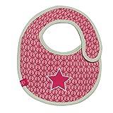 Lassig LTEXBS068 - Babero impermeable con diseño de estrella, color rojo