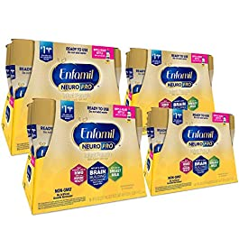 Enfamil NeuroPro Ready to Feed Baby Formula Milk, 8 Fluid Ounce (24 Count) – MFGM, Omega 3 DHA, Probiotics, Iron & Immune Support