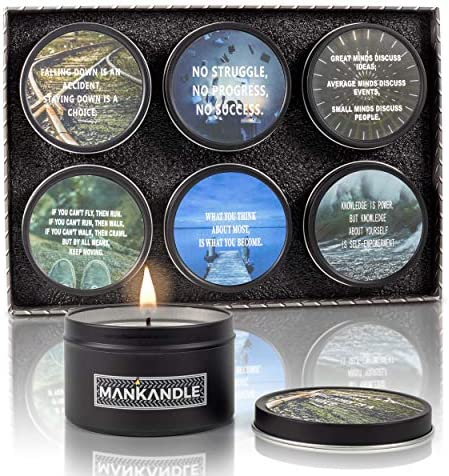 Majestic Zen s ManKandle Luxury Scented Candles Gift Set for Men Gifts for Guys Set of 6 Man product image