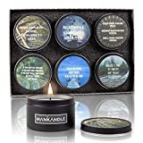 Majestic Zen's-ManKandle Luxury Scented Candles Gift Set for Men | Gifts for Guys | Set of 6 Man Candles | Birthday Gifts for Boyfriend | Fathers Day Gift for Dad | Gifts for Men Unique | Men Gifts
