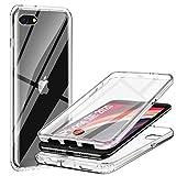 ivencase Funda para iPhone SE 2020 / iPhone7 /iPhone8, 360 Grados Transparente Case Protectora con Protector de Pantalla Incorporado Carcasa para iPhone SE 2020 / iPhone7 /iPhone8 - Transparente