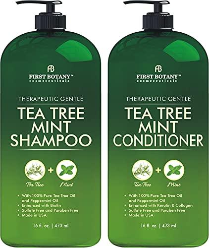 Tea Tree Mint Shampoo and Conditioner - contains Pure Tea...