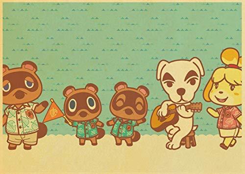 Spiel Animal Crossing Poster Wandkunst Gemälde Poster Und Drucke Kinderzimmer Dekoration Poster 50X70Cm Sg-2368