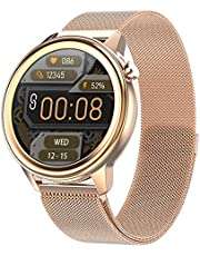 Smart Watch, Fitness Tracker met Hartslag Bloeddrukmeter, Waterdichte Lichaamstemperatuur Meting Bloeddruk Spo2 Heren Smartwatches voor Android IOS