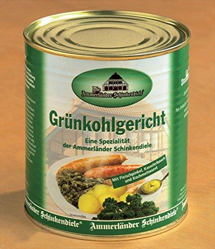 Grünkohlgericht mit Pinkelwurst, Kasseler und Kochwurst in 800g Dose