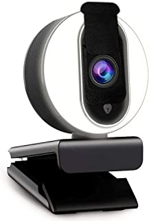 1080P Webcam with Ring Light, Privacy Cover and Dual Microphone, Advanced Auto-Focus, Adjustable Brightness, 2021 NexiGo S...