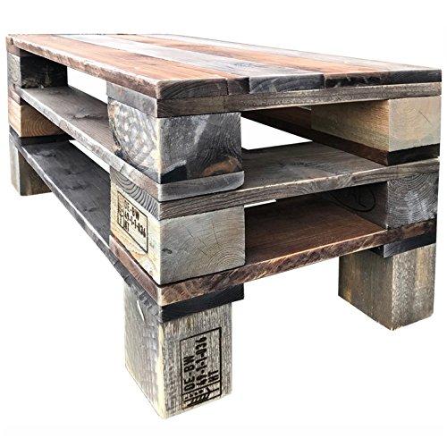 Palettenmöbel Couchtisch, Beistelltisch NAHOKO, Neuholz gebeizt in klassischer Paletten Optik, jedes Teil ist einzigartig und Wird in Deutschland in Handarbeit gefertigt
