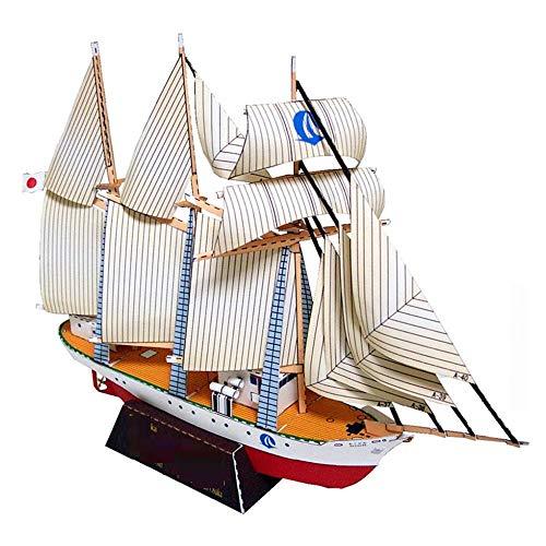 Origami/Papel de navegación/DIY Origami hecho a mano/Stereo Puzzle Modelo Decoración-Hundimiento