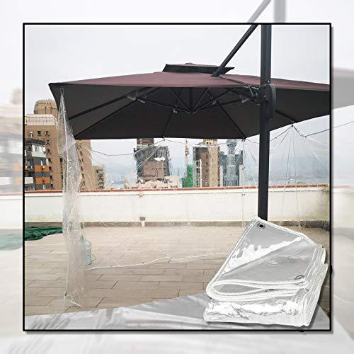 Telo MYAN Impermeabile, Telone Protezione per Esterno Morbido Film Gazebo Copertina PVC Plastica Foglio con Occhielli per Balcone, Personalizzabile (Color : Clear, Size : 3x3.5m/9.8x11.5ft)