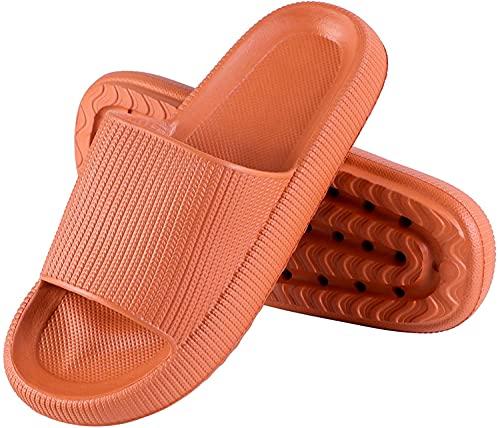 Genfien Herren Damen Badeschuhe Sommer Streifen Hausschuhe Indoor-Haus Anti-Rutsch Dusche Schlappen rutschfest Pantoffeln Gartenschuhe Home Slippers Plastik Schuhe Sandaeln