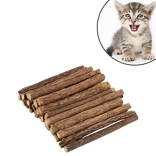 Auidy_6TXD 30 Stück Katzenminze Sticks, zur Katzen Zahnpflege und gegen Mundgeruch der Katze, Katzenspielzeug und Zahnpflege
