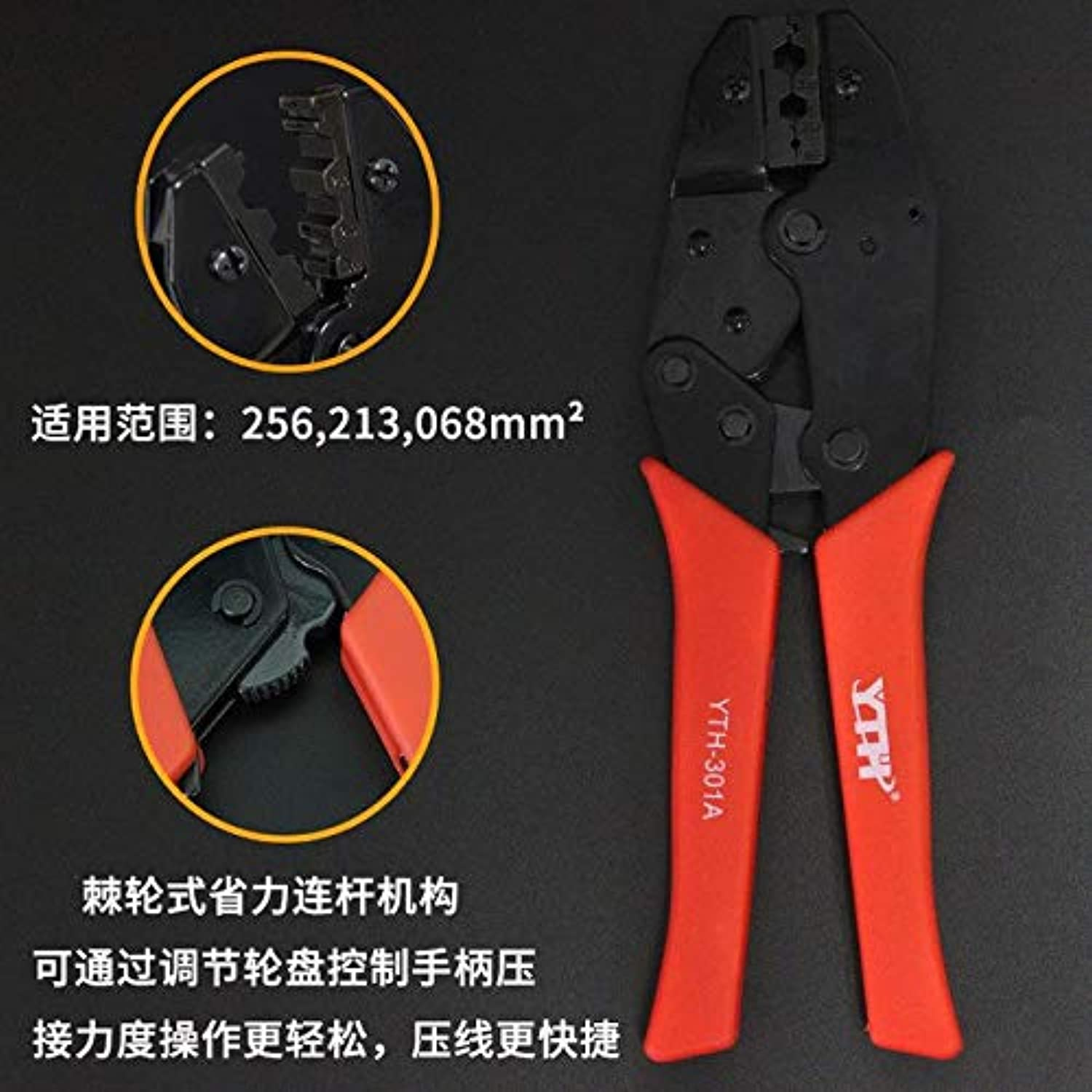 New Style Handle Tool European Wire Crimping Pliers,Terminal clamp Pliers Wire Cutting Mould Crimping Tool Crimping Pliers   YTH-301A