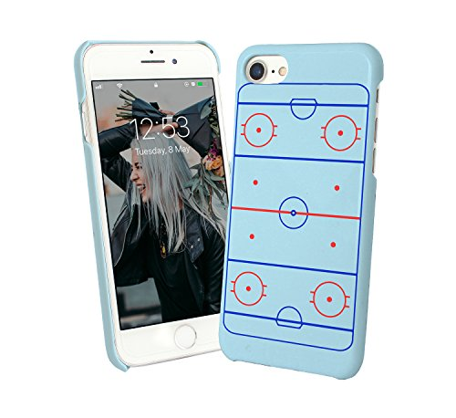 Ice Hockey Field Players Game Sport Love Motivation_000308 Protective Case Cover Hard Plastic iPhone XS (2018) Funny Gift Christmas for Him for Her