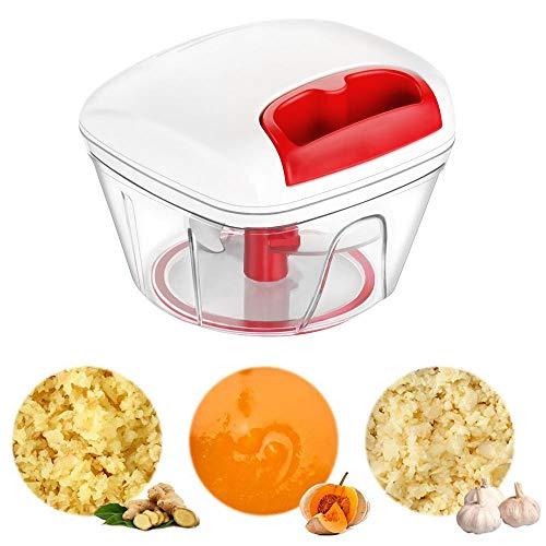 Wdbelm Mini Presse Ail, Hachoir à légumes Oignon 550 ML, Hachoir Manuel, Coupe-légumes/Fruits/ail/Gingembre, Coupe-Cuisine Parfait