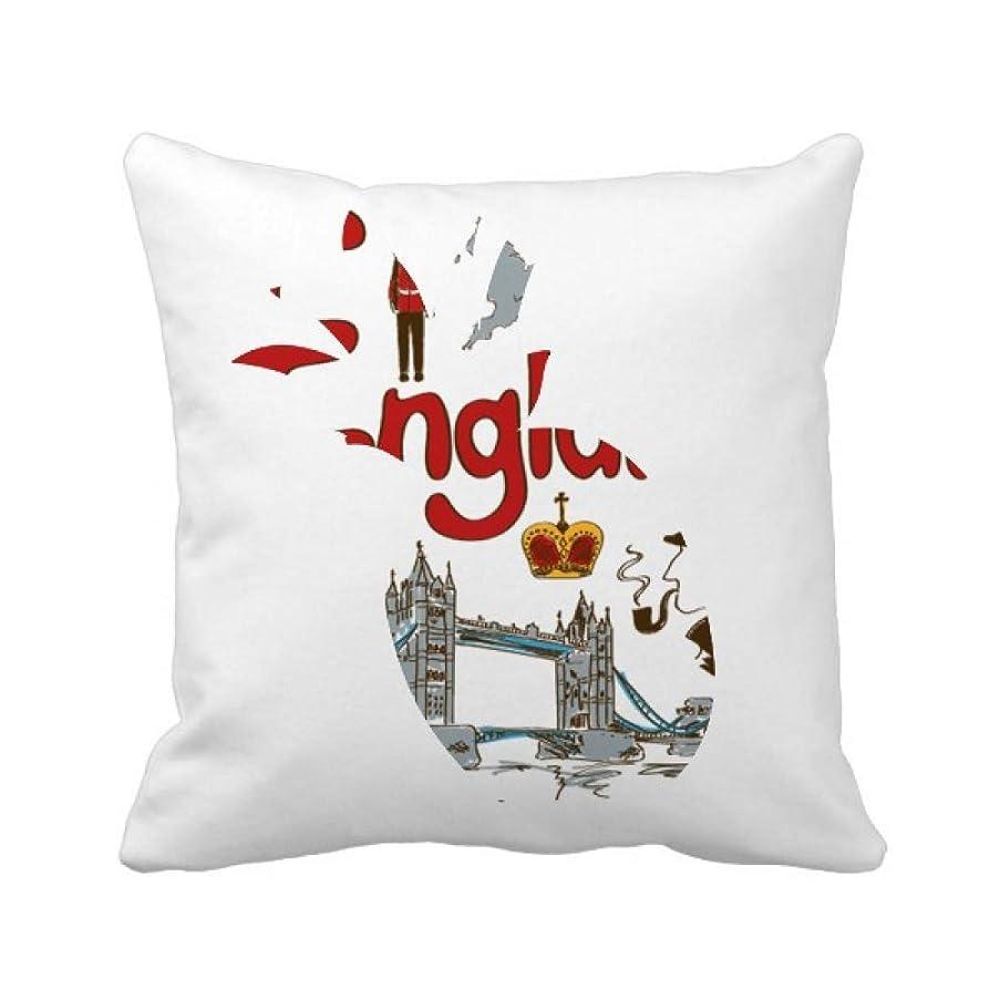 副産物本能注文イングランドの国家の象徴のランドマークのパターン パイナップル枕カバー正方形を投げる 50cm x 50cm
