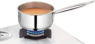 Borosil Stainless Steel Sauce Pan, Impact Bonded Tri-Ply Bottom, 2.3 Litre, Silver