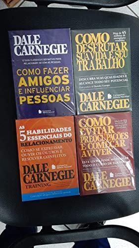 kit Dale Carnegie obras selecionadas 4 volumes bolso como fazer amigos e influenciar pessoas e outros.