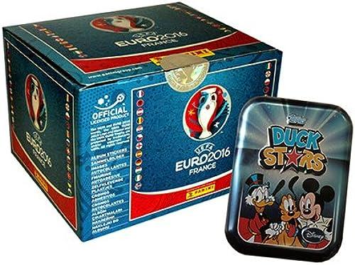 Panini EM Euro 2016 Sticker - 1 Display mit 100 Tüten + Duck Stars Mini-Tin
