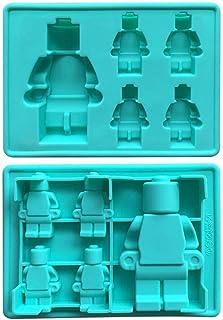 Molde para Horno con Forma de Minifiguras de Lego, Victor International Vlego Silicona elegible