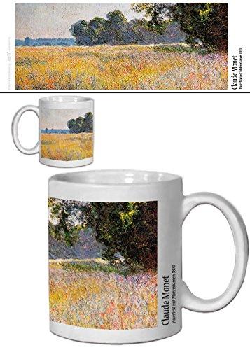 1art1 Claude Monet, Haferfeld Mit Mohnblumen, 1890 Foto-Tasse Kaffeetasse (9x8 cm) Inklusive 1x Überraschungs-Sticker