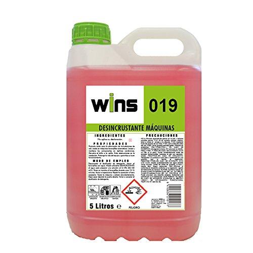 VINFER Wins 019 Desincrustante Máquinas. Envase 5 L. Producto ácido para la eliminación de Incrustaciones de Cal y óxido en máquinas lavavajillas.
