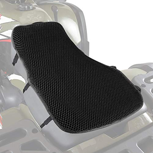 ATV Seat Protector, ISSYZONE 3D Mesh Comfort Seat Cover with Anti-slip Gel Cloth - Black