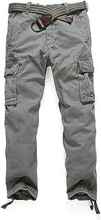 YY Clothes autumn and winter men's jogger sweatpants casual daily fashion elastic belt multi-pocket pants tactical pants f...