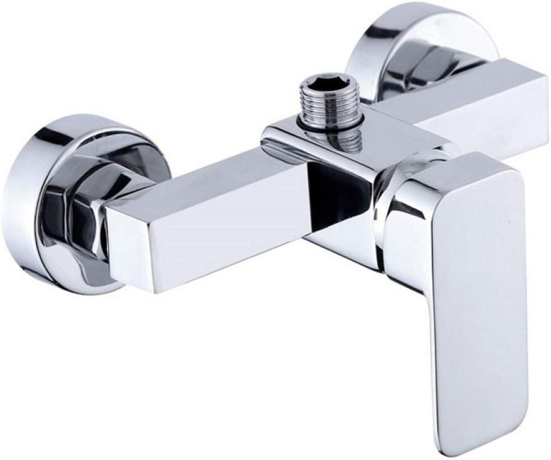 YHEGV Wasserhahn Platz Dusche Bad Mischventil Bad Wasserhahn hei kalt einfach Regen Dusche Wasserhahn Dusche Grünckten Wasserhahn