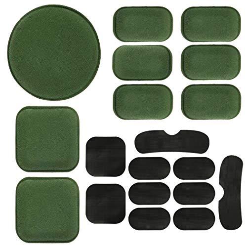 AOUTACC Almohadillas universales para casco de Airsoft, kit de almohadillas de espuma de repuesto para casco rápido, Mich, ACH/USMC/PASGT