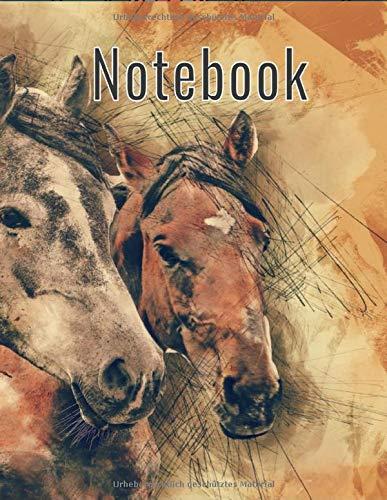 Notebook: Notizbuch 8.5x11 ähnlich A4 kariert in Wasserfarben Look, 120 Seiten, Blätter, Block, Buch, Notizheft, Schreibheft, cremefarbenes Papier, mattes cover