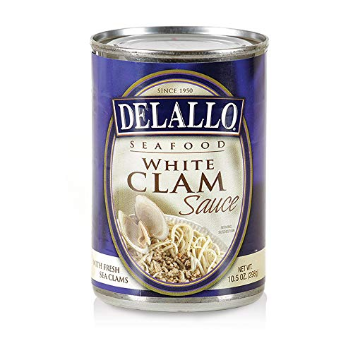 Delallo Sauce, White Clam 10.5 OZ(Pack of 3)