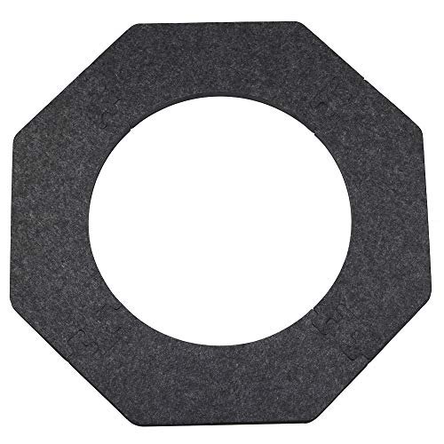 4Pcs Removerble Dart Board Surround Wall Protection, Octagonal EVA Foam Felt Backboard