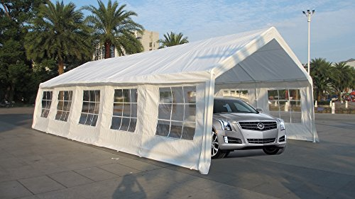 Exacme White 32x16 Feet Heavy Duty Carport Car Shelter Wedding Party Tent Canopy
