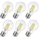 LVWIT Lampadina Filamento LED E27,7W Equivalenti a 60W,806Lm,2700K,Luce Bianca Calda,Forma A60 Stile...