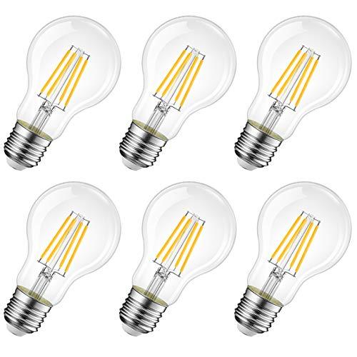LVWIT Bombillas de Filamento LED E27 (Casquillo Gordo) - 8W equivalent