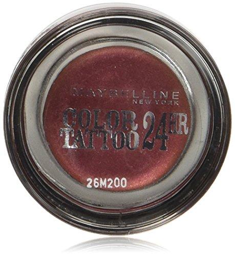 Maybelline New York Lidschatten Eyestudio Color Tattoo 24h Pomegranate 70 / Gel-Cream Eyeshadow Rot Ton metallic, langanhaltend, 1 x 4 g