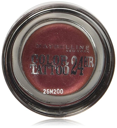 Maybelline New York Lidschatten Eyestudio Color Tattoo 24h Pomegranate 70 / Gel-Cream Eyeshadow Rot Ton metallic, langanhaltend, 1 x 4 g