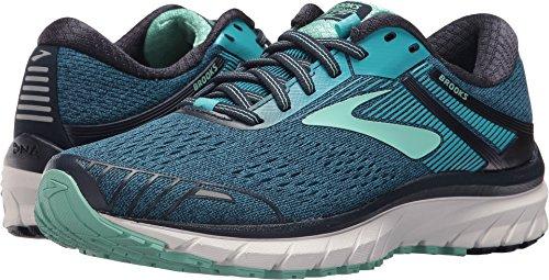 Brooks Women's Adrenaline Gts 18 Running Shoes, Blue (Navy/Teal/Mint 495), 5 UK