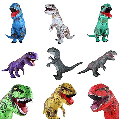 Zi Xi & Zi Qi T-Rex Inflatable Dinosaur Mascot Party Costume Fancy...