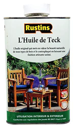 Rustins (TEAK1000) - 1 Litre - Huile de Teck pour bois - fini Satiné Incolore