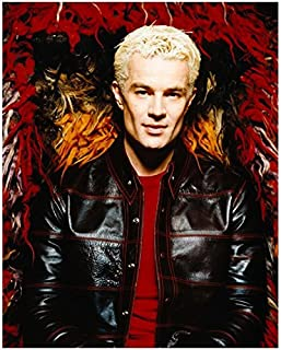 James Marsters 8 x 10 Photo Buffy The Vampire Slayer Black Leather Jacket w/Red Detailing Amazing Sexy Cheekbones kn