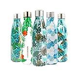 YOKO DESIGN - Bottiglia Termica con Doppia Parete in Acciaio Inox, Acciaio Inox, Equador, 500 ml