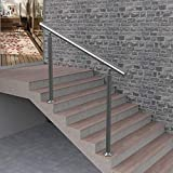 LHL-DD Barandilla para escaleras, barandilla de Acero Inoxidable 304, barandillas de Exterior de ángulo Ajustable para Madera, Plataforma de Nivel de hormigón, Escalera, balaustrada