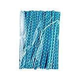 YOFASEN Mischfarbig Twistband - 9cm Torsionriegel Kabelbinder Bindestreifen Twist Ties für Bonbons/Keksen/Lutscher, Blau, 100PCS