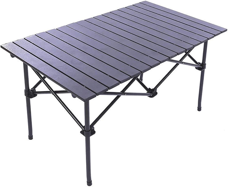TKOVSKO Klapptisch Tragbare Aluminium Klapptisch Camping Strand BBQ Picknick Klapptisch 94  55  50 cm, Tragbare Camping Tisch