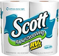 Scott Rapid Dissolve Bath Tissue Roll, 4 rolls, Pack of 12 (48 rolls)